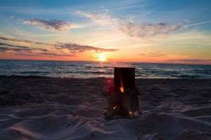 Emberlit Stove in the sunset